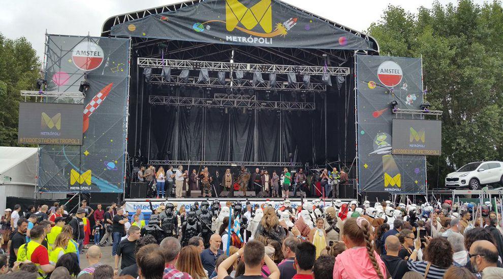 Gary Lightbody, el vocalista del grupo Snow Patrol, en concierto del festival Mad Cool 2018