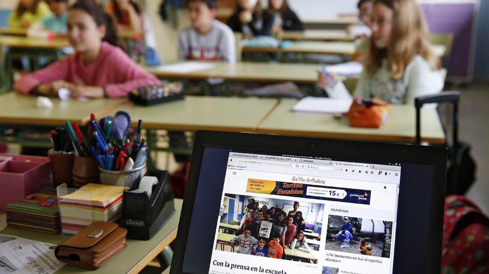 .Muchos colegios incluyen entre los actos de la Semana de la Prensa en la Escuela la visita de algún periodista que participa en una charla sobre la profesión con los alumnos