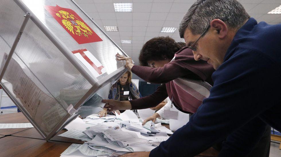Denuncian irregularidades en las elecciones rusas.