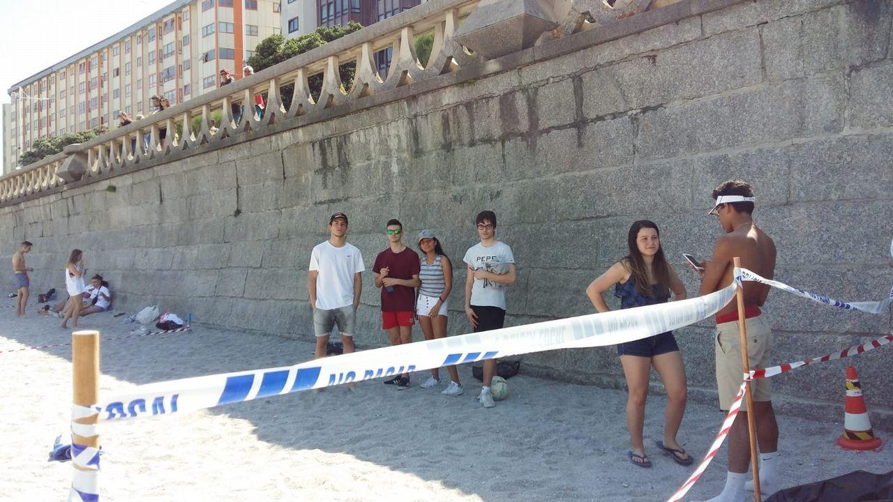 .Playa del Orzán, en A Coruña, parcelada.