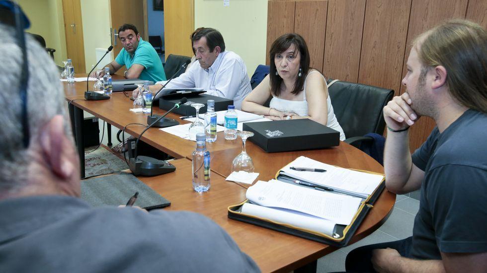 María José Rodil, ayer en la guardería Coke II, de Magoi, que tendrá seis plazas concertadas.