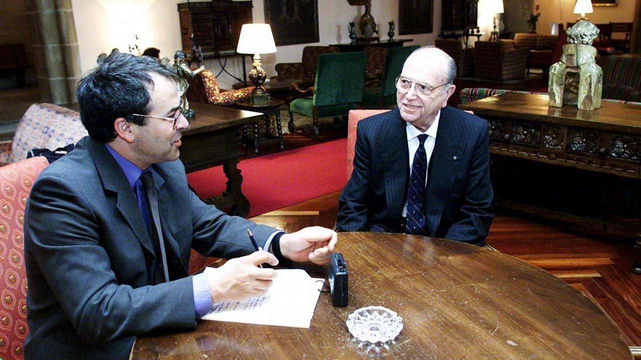 .Entrevista del periodista de La Voz de Galicia, Jacinto Ruiz, al ex presidente de la Xunta Fernández Albor.
