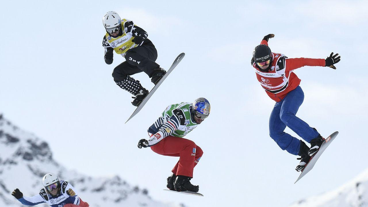 Competición de snowboard