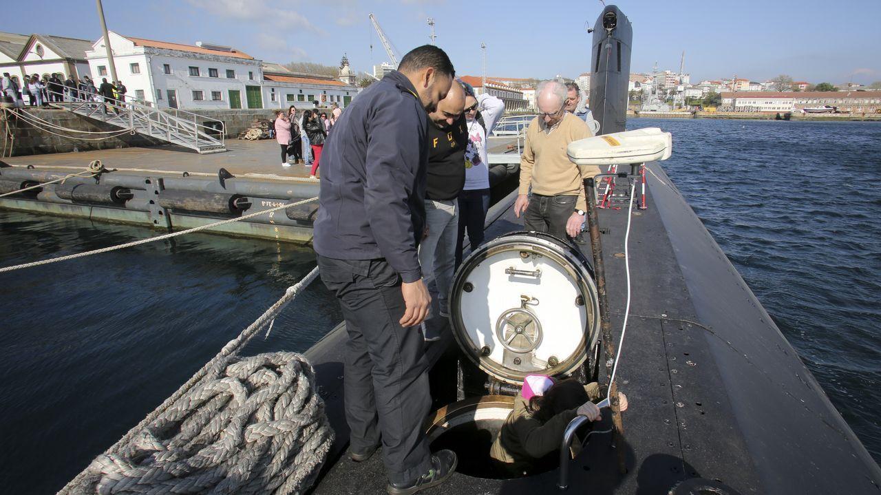 A bordo del submarino Mistral en Ferrol