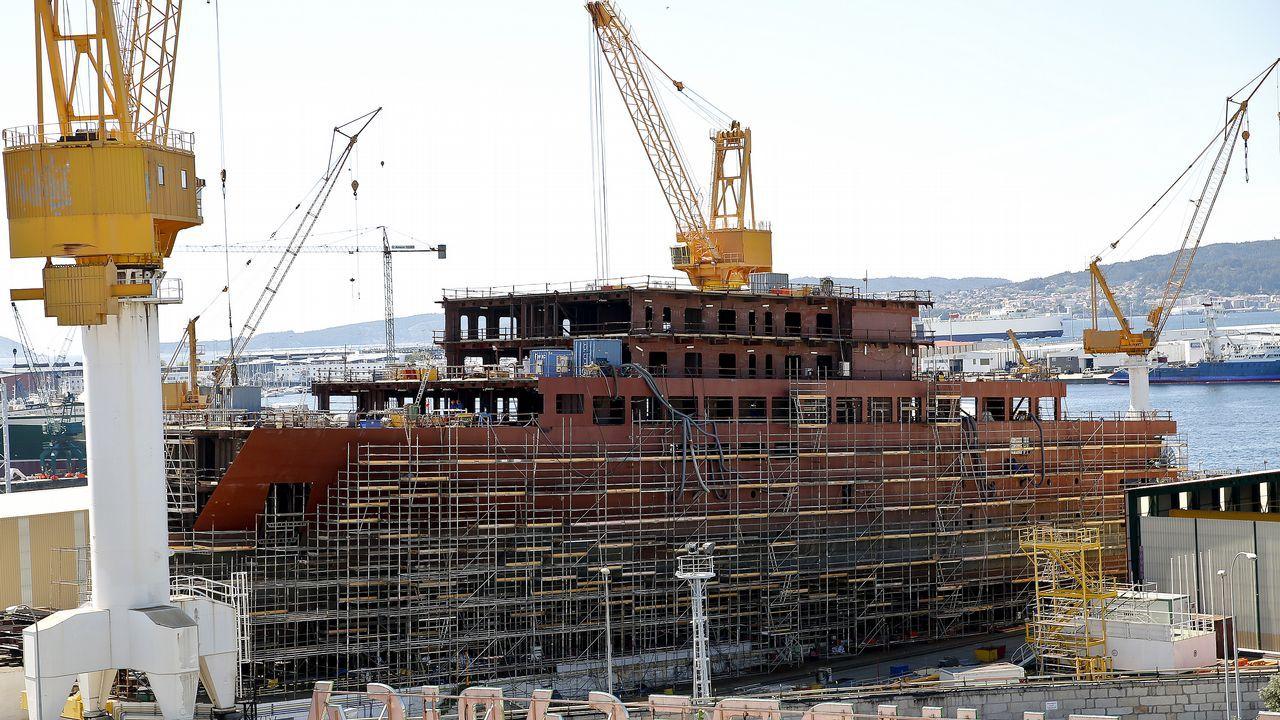 .Buque de crucero para Ritz Carlton, en construcción en el astillero Barreras