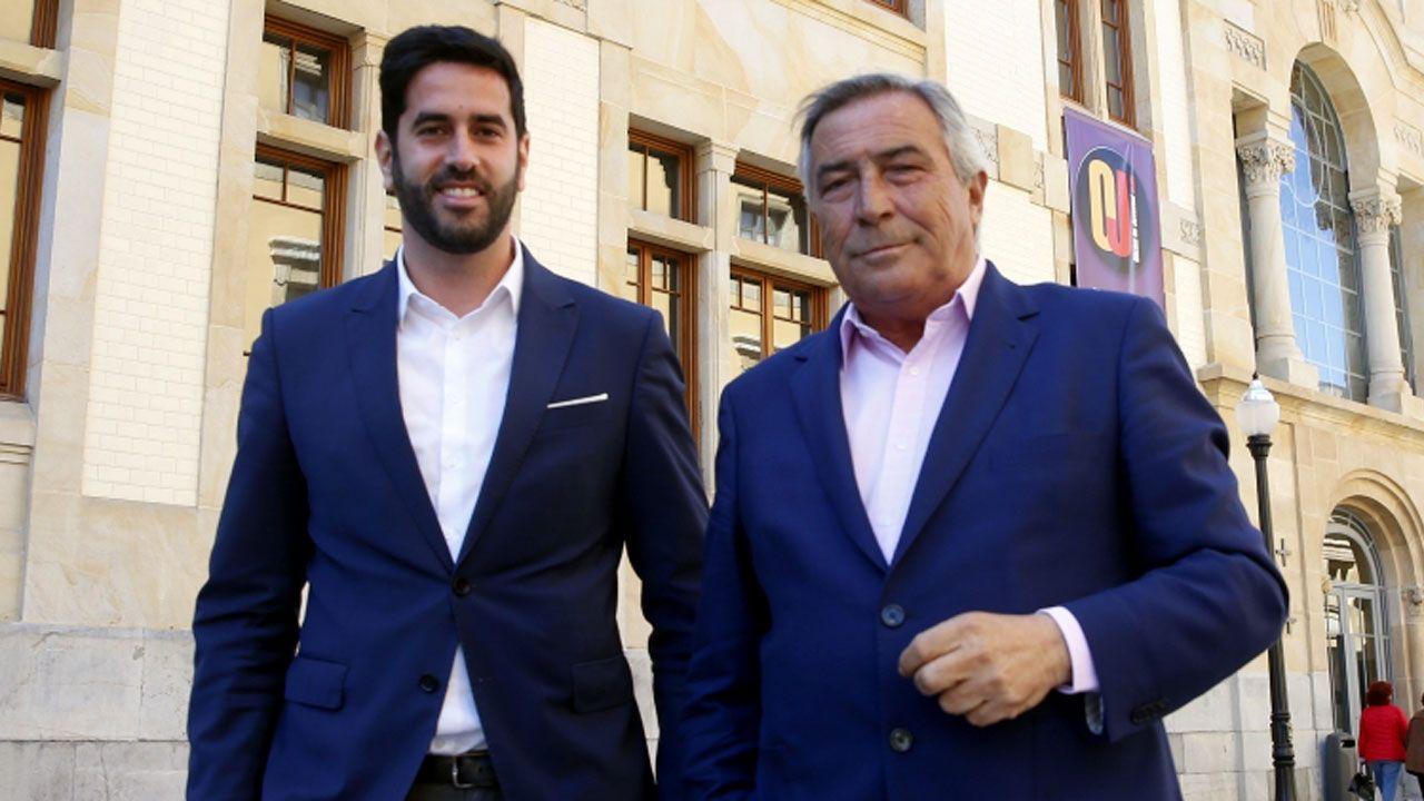 Álvaro Muñiz, junto a Rubén Hidalgo