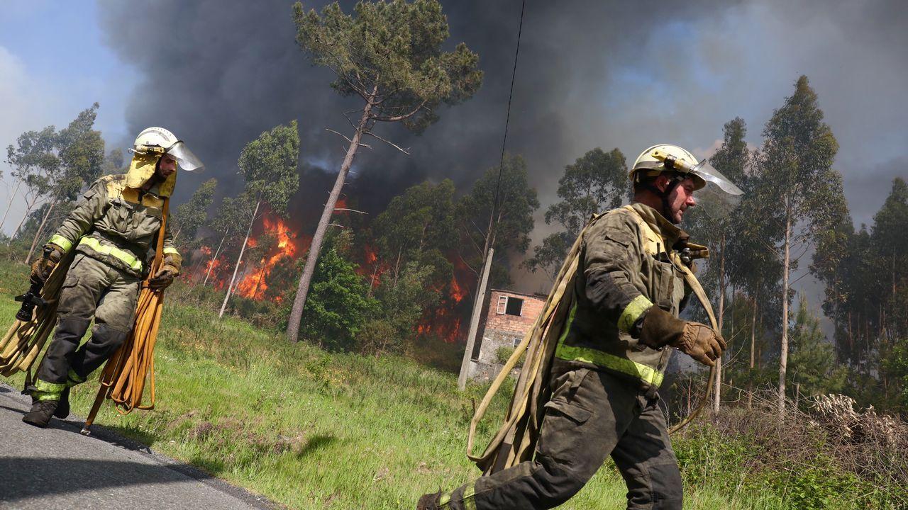 Incendio a escasos kilómetros del centro de Santiago.