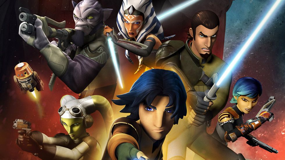 Los protagonistas de «Star Wars: Rebels».