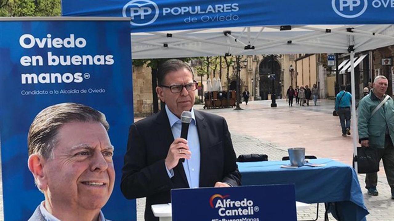 Alfredo Canteli, candidato del PP a la alcaldía de Oviedo