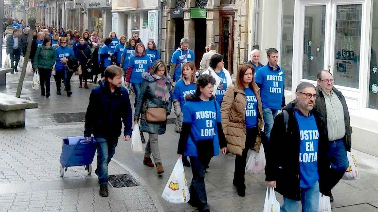 Los huelguistas aportaron 300 kilos de comida al Comedor San Froilán, en Lugo