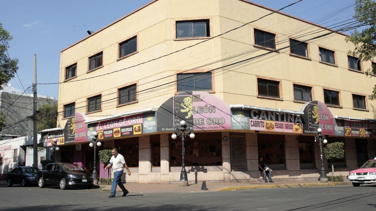 Vista del Bar El León de Oro, propiedad de José González