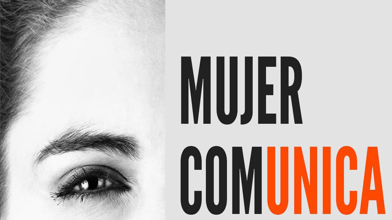 Cartel promocional de las jornadas Mujer Comunica, que se celebrarán en La Fresneda el próximo 22 de febrero