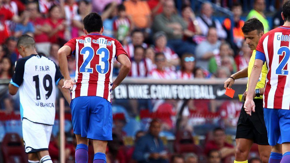 El Atlético-Deportivo, en fotos.Borja Domingo, durante el partido contra el Choco