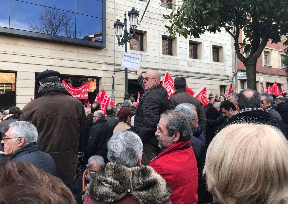 Manifestación del Primero de Mayo de 2018 en Asturias.Concetración en Oviedo en defensa de las pensiones