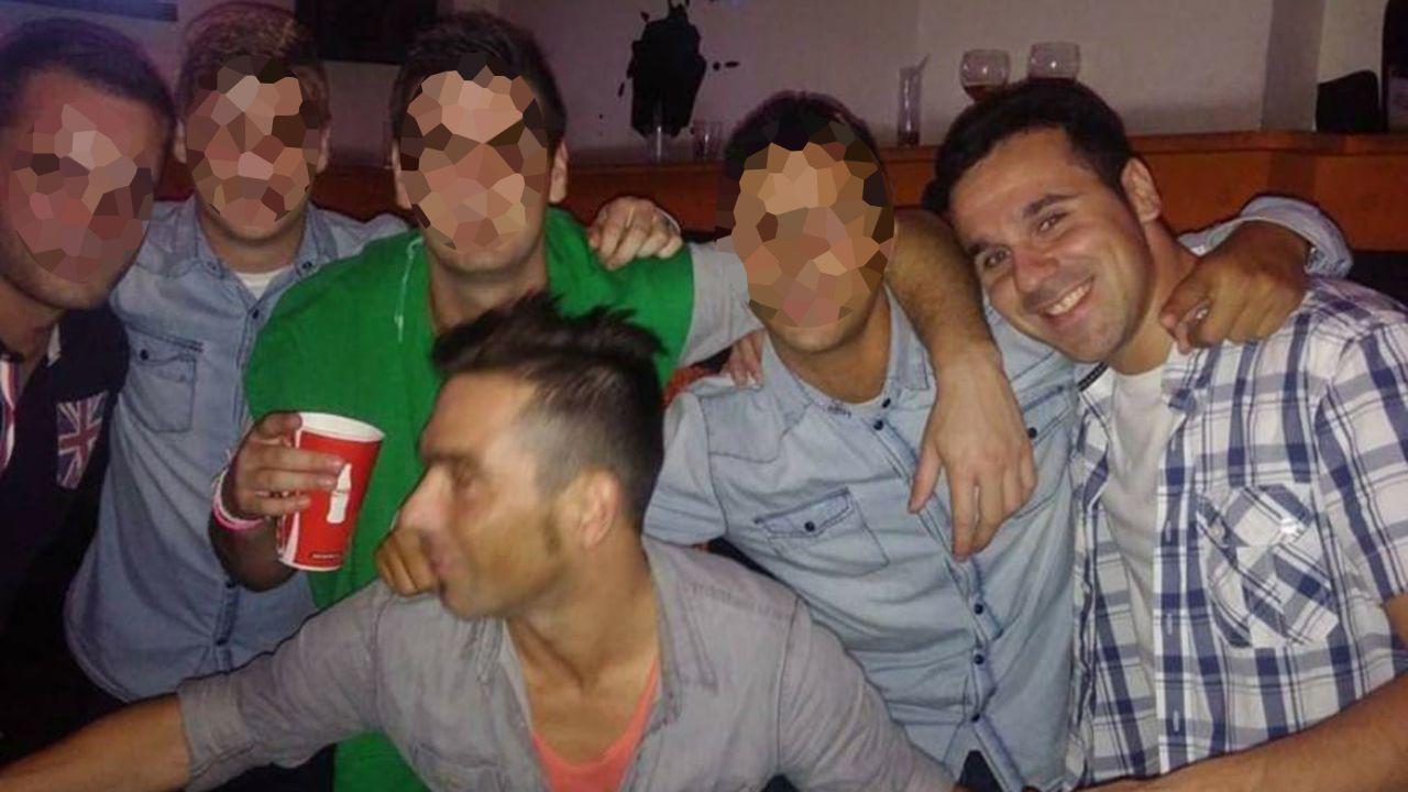 Mamel Castañón y David Carragal en una foto de amigos