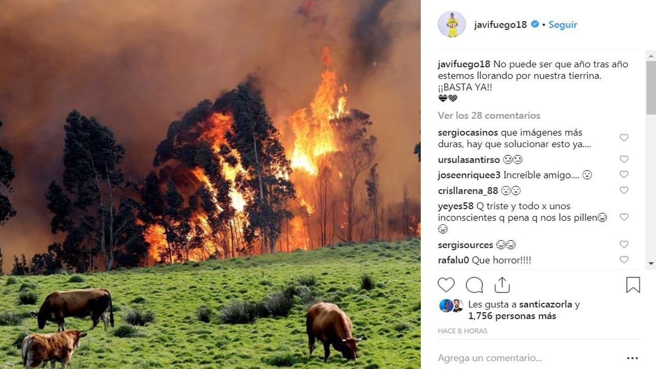 Deportistas gallegos con aspiraciones de ir a los Juegos Olímpicos de Tokio 2020.Javi fuego muestra su dolor ante los incendios forestales en Asturias