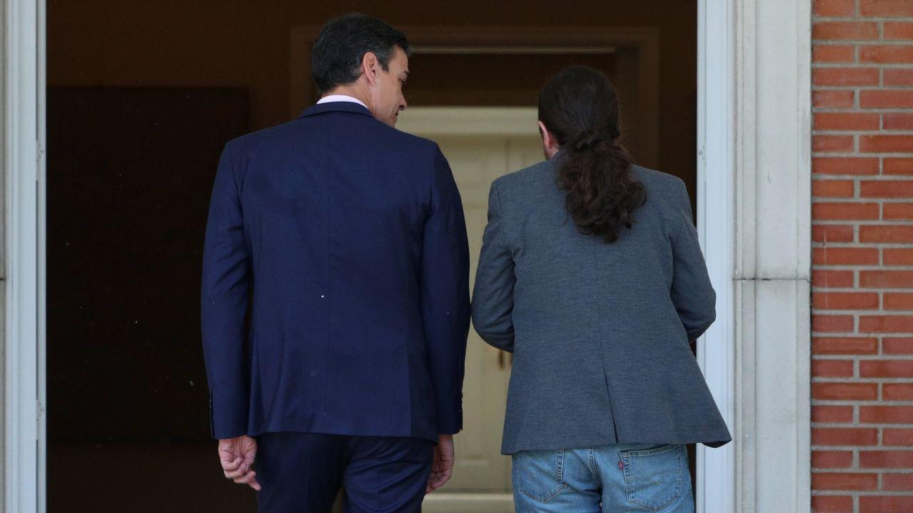 Pedro Sánchez y Pablo Iglesias discrepan sobre la formación del llamado «gobierno de cooperación»