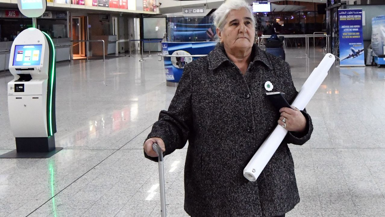 .Una de las supervivientes de Srebrenica