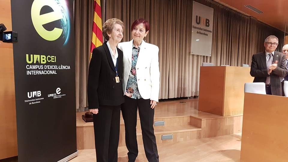 .Margarita Salas en la presentación de su investidura en la UAB