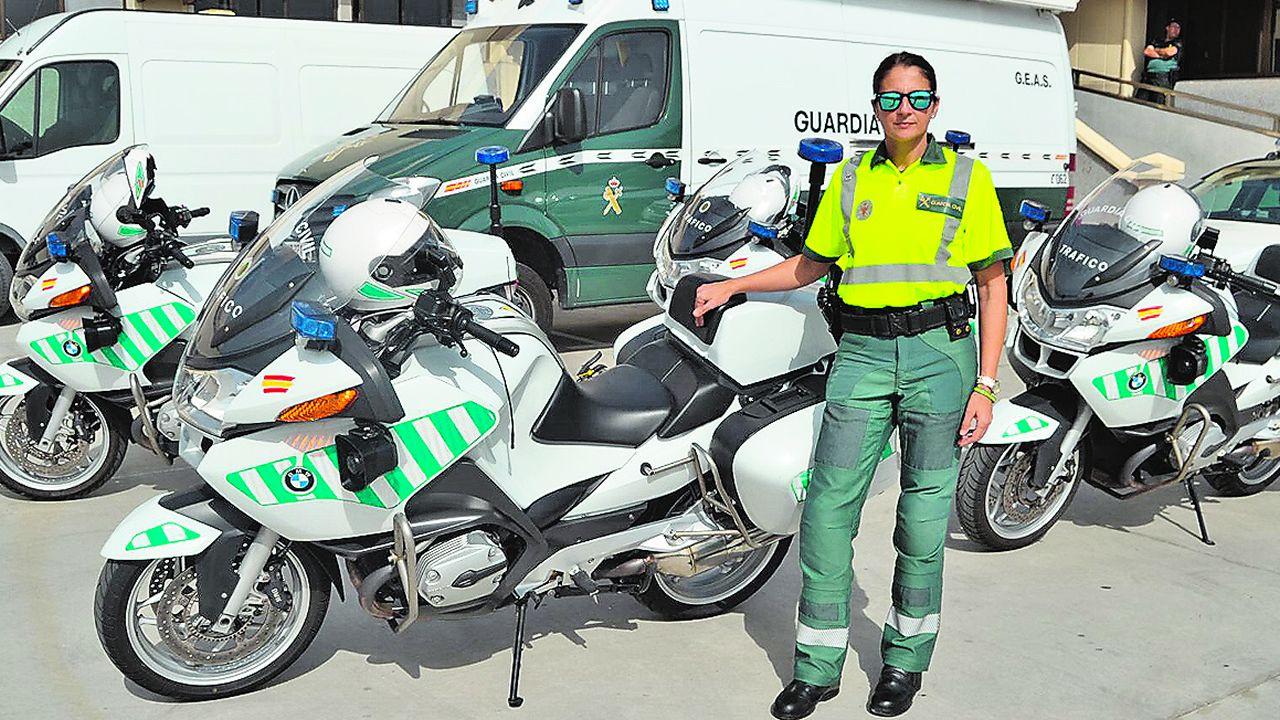 La abadinense Rosario Cabado es agente de Tráfico en Las Palmas de Gran Canaria