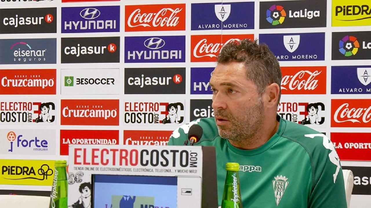 Rafa Navarro en rueda de prensa