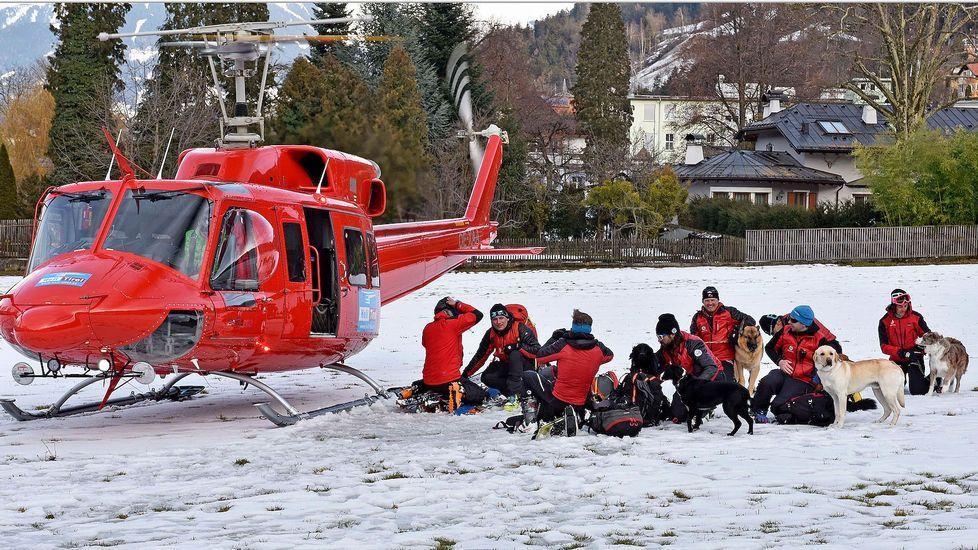 Tareas de rescate en el Tirol