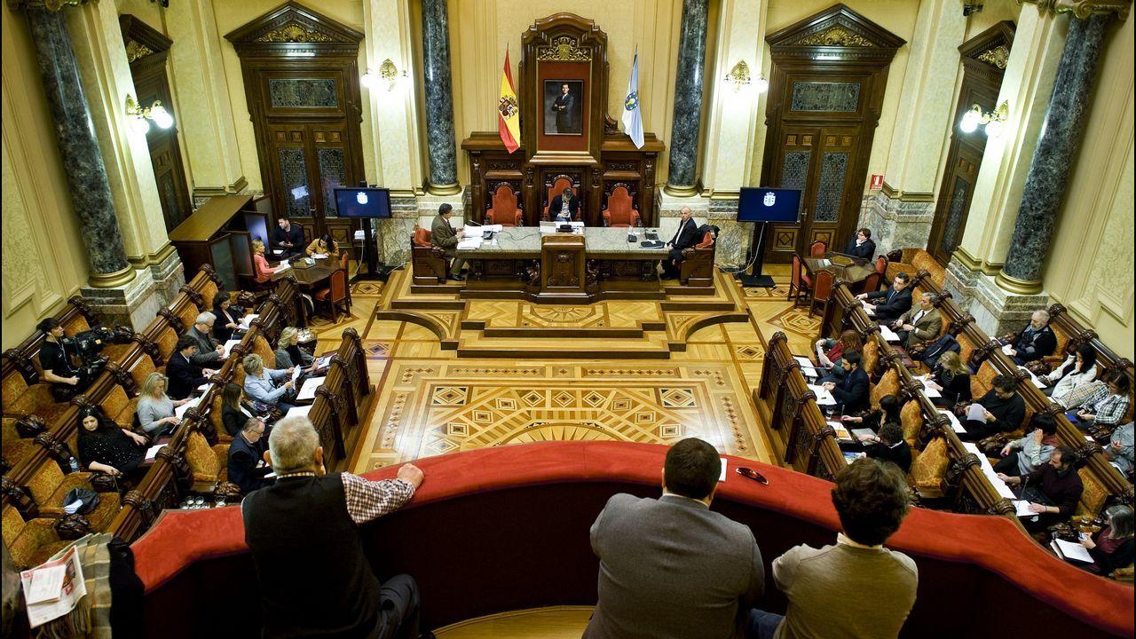 Los concejales no adscritos, en una rueda de prensa delante del consistorio