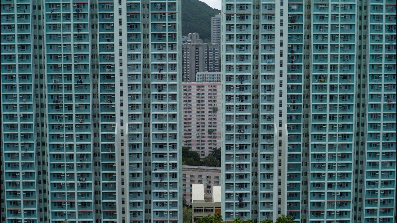 Edificios residenciales en Hong Kong