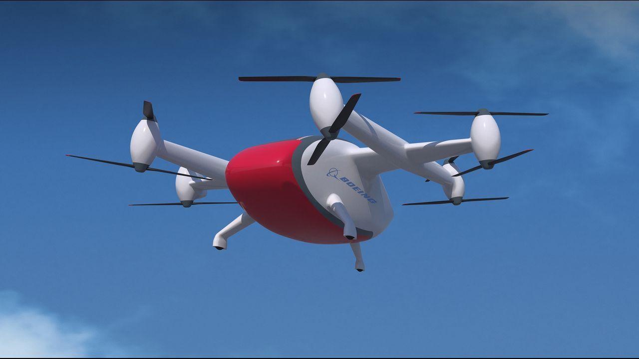 Boeing está explorando conceptos de diseño como este para vehículos aéreos de carga no tripulados. Con capacidad para transportar entre 113 y 226 kilos, la idea es generar nuevas posibilidades para mover mercancías de forma segura