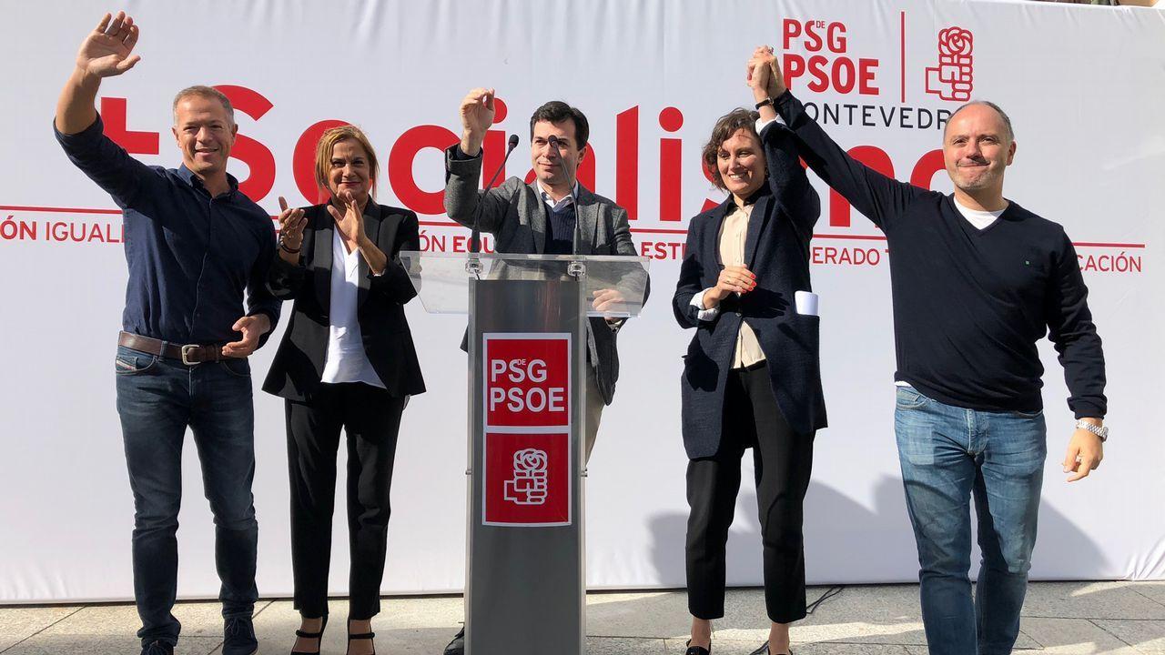 Gonzalo Caballero, candidato do PSdeG á presidencia da Xunta: «Son un instrumento ó servicio do cambio político en Galicia».PROTESSTAS DE LOS TRABAJADORES DE ALCOA POR EL CIERRE DE LA FÁBRICA