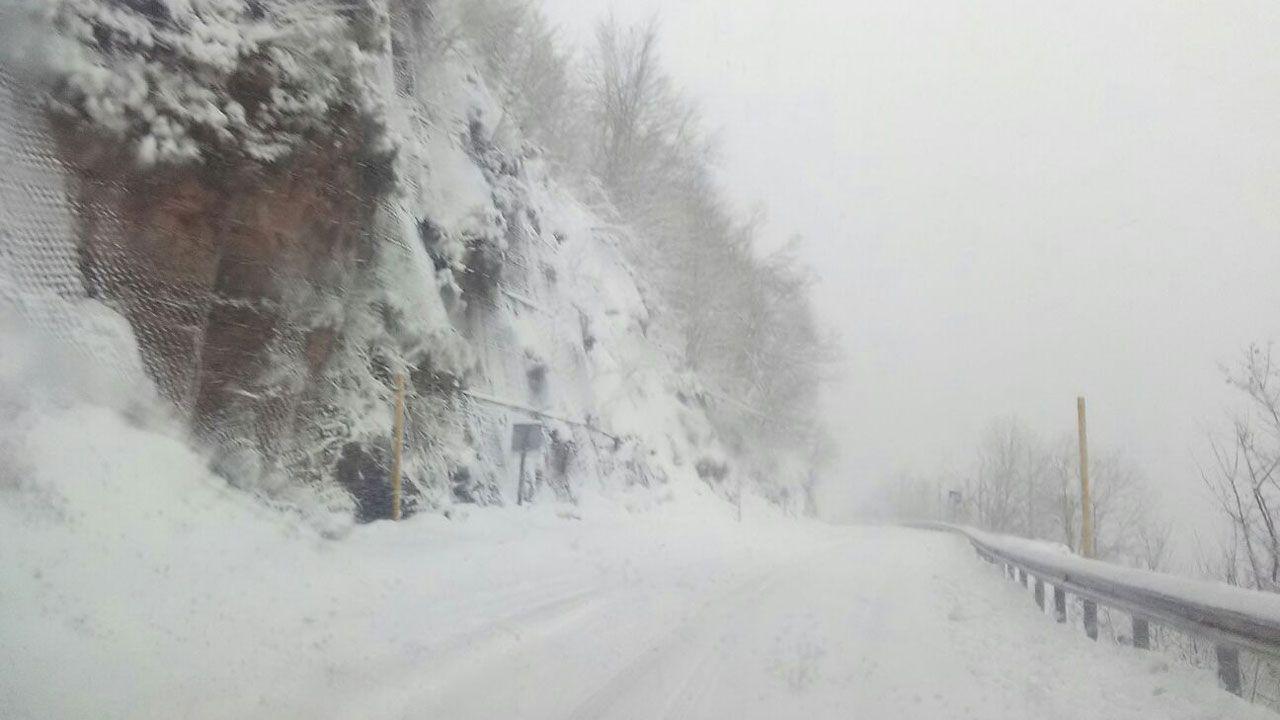 Nieve en la vertiente asturiana del Puerto de San Isidro