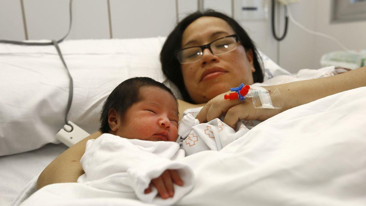 Estrella, la primera bebé de A Mariña en 2019.Estrella , la primera bebé de A Mariña en 2019