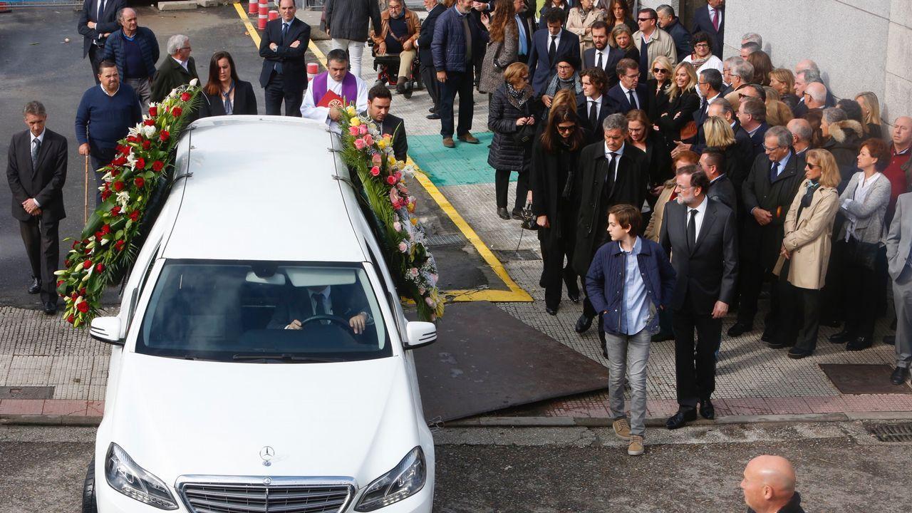 Entierro y funeral de Mariano Rajoy Sobredo.Nave de la Cooperativa del Mar San Miguel de Marín, de la que era presidente Luis Santiago Pereira