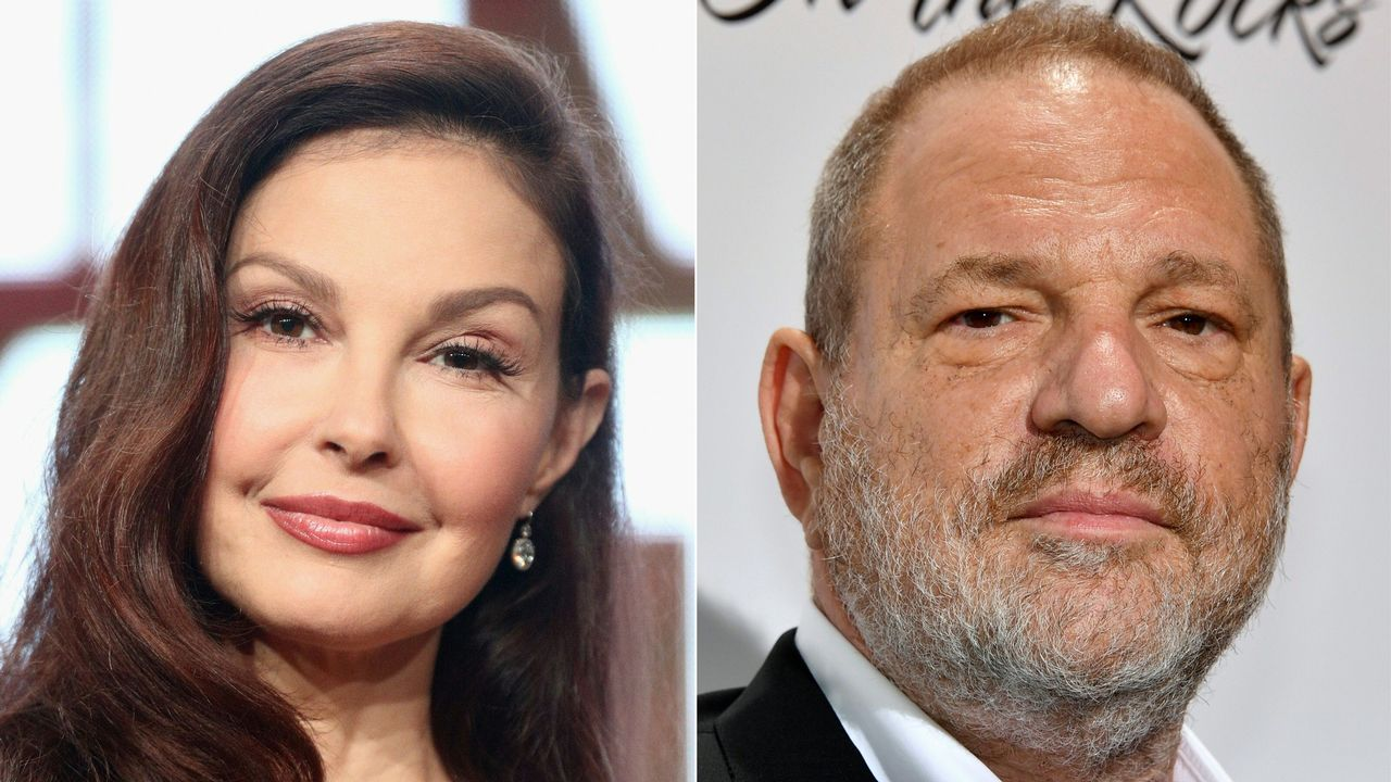 La actriz Ashley Judd y el productor Harvey Weinstein