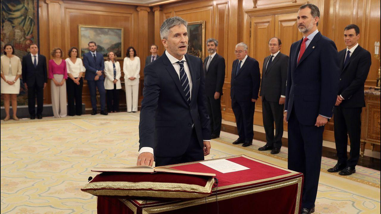 Fernando Grande-Marlaska promete su cargo como nuevo ministro del Interior
