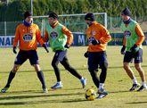 Borja, Marchena, Culio y Seoane entraron en los planes de Fernando Vázquez para el partido de hoy.