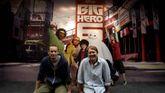 Los directores de «Big Hero 6», uno de los estrenos dirigidos al público infantil.