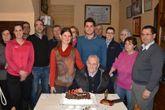Antelo celebró una fiesta con sus cuatro hijos y nueras.