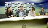 Sally Lui y Álex Rodríguez, fueron recibidos ayer por  Lores y la concejala de Promoción da Cidade.