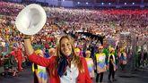 María López en la ceremonia de inauguración de Río 2016