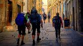 Entrada del Camino en el casco histórico de Compostela