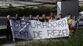 Una protesta vecinal en el año 2008