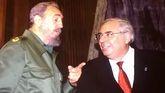 Fidel Castro y Vicente Álvarez Areces