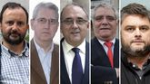 Jesús Sueiro, Enrique Castellón, Juan J. Rodríguez Sendín, Sergio Quintairos y Daniel Rey