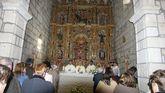 El retablo de la iglesia de Abavides, restaurado en 2004