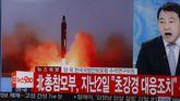 La televisión de Corea del Sur informa sobre el lanzamiento de misiles de Corea del Norte