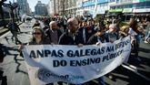 Manifestación polo ensino convocada por la Plataforma Galega en Defensa do Ensino Público na Coruña