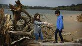 Niños en Cecebre buscando la imagen perfecta