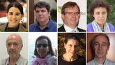 De izquierda a derecha, María Domingo, Carlos Mandianes, Mario Romeo, Maribel Fernández Alonso,  Joan Botella, Carmen Salgado, Ana Losada y Siscu Baiges