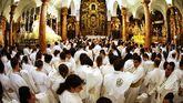 Imagen de archivo de una procesión en Sevilla.
